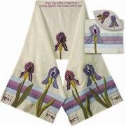 Violet Iris Applique Rikmat Elimelech Tallit