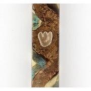 Wave Design Brass, Square Mezuzah Case