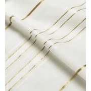 White and Gold Stripes Tallit Prayer Shawl (42X63 inch)