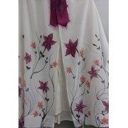 Galilee Silks White Floral Tallit Prayer Shawl