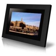 Window on Jerusalem black digital photo frame, high resolution LCD