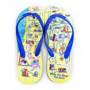 Flip-Flop Israeli Sandals with a Twist, Walk on Real TLV Map