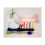David Gerstein Dove Hanukkah Menorah