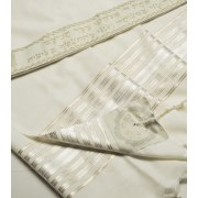 Talitania Hermonit Wool Tallit with Gold Stripes