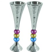 Yair Emanuel Aluminum Matte Beaded Stem Multicolored