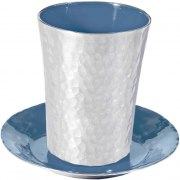 Yair Emanuel Aluminum Kiddush Cup with Blue Enamel