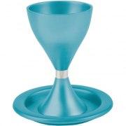 Anodized-Aluminum Kiddush Cup - Turquoise