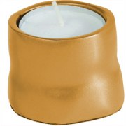 Yair Emanuel Anodized Aluminum Tea Candles Gold