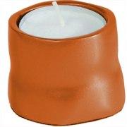Yair Emanuel Anodized Aluminum Tea Candles Orange