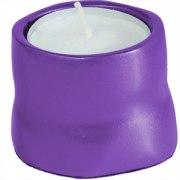 Yair Emanuel Anodized Aluminum Tea Candles Purple