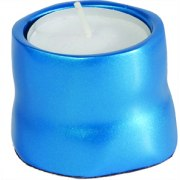 Yair Emanuel Anodized Aluminum Tea Candles Turquoise