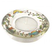 Yair Emanuel Birds Branches Glass Tealight Candlesticks