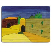 Yair Emanuel Hand Painted Wood Placemat - Set of Two