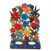 Yair Emanuel Lazer Cut Candlesticks Flower Bunch