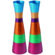 Yair Emanuel Long Colorful Aluminium Shabbat Candlesticks