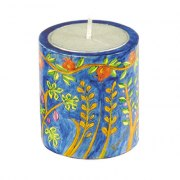 Yair Emanuel Memorial Yahrzeit Candle Holder Oriental