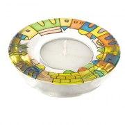 Yair Emanuel Old City Jerusalem Glass Tlight Candlesticks
