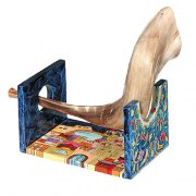 Yair Emanuel Small Shofar Stand, Painted Wood