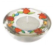 Yair Emanuel Pomegranates Glass Tealight Candlesticks
