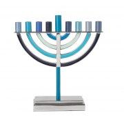 Yair Emanuel Shades of Blue Classic Hanukkah Menorah
