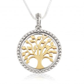 Marina Jewelry Sterling Silver And Gold Plated Tree Of Life Necklace