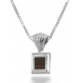 Sterling Silver Whole Bible Nano Jewelry Layered Square Pendant