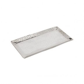 Yair Emanuel Large Hammered Stainless Steel Rectangular Tray