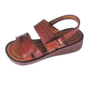 Biblical Handmade Leather Platform Slip-on Sand -- Ayelet