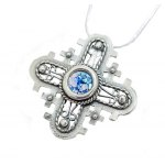 Silver and Roman Glass Cross