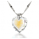 925 Sterling Silver Starburst Shema Heart by Nano Jewelry