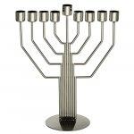 Hanukkah Menorah Center Strings Angular Design