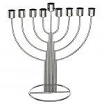 Hanukkah Menorah Center Strings Design