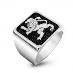 925 Sterling Silver Jerusalem Lion Ring