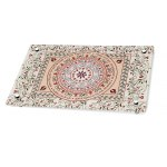 Dorit Judaica Pomegranate Mandala Shabbat Verses Glass Challah Board