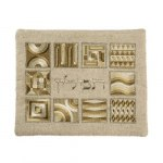 Yair Emanuel Tefillin Bag with Gold Embroidery Squares
