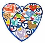 Emanuel Judaica Heart Charm Wall Hanging