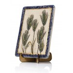 Handmade Ceramic Plaque with Seven Species Barley by Art in Clay