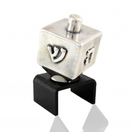 Sterling Silver Cubic Dreidel