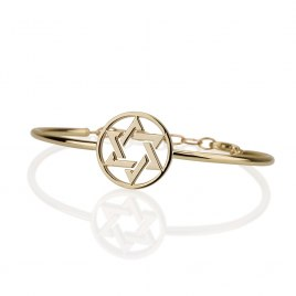 14K Gold Bracelet with Star of David