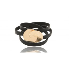 72 Names Of God Leather and Gold Kabbalah Bracelet