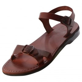 Adjustable Single Thin Strap Handmade Leather Sandals - Talya
