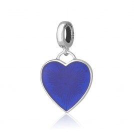 Marina Jewelry Sterling Silver And Enamel Heart Charm Bead