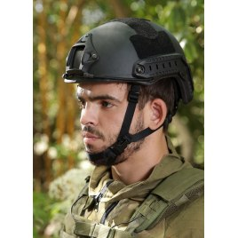 Black Light Fast Bullet Proof Ballistic Helmet Level IIIA