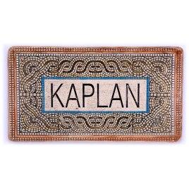 Personalized Handmade Ceramic English Door Sign Mosaic Design