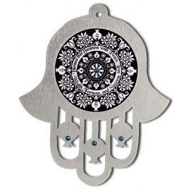 Dorit Judaica English Home Blessing Hamsa Wall Hanging