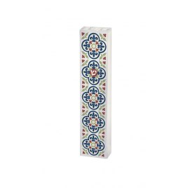 Acrylic Mezuzah with Hamsa and Pomegranate by Dorit Judaica