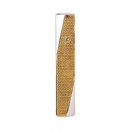 Hammer Mezuzah with Brass Cutout Star of David