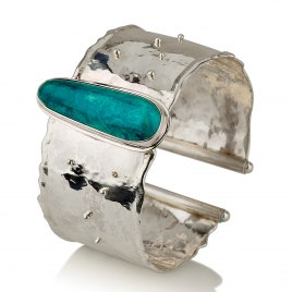 Sterling Silver and Eilat Stone Cuff Bracelet