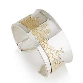 Gold and Silver Jerusalem Cuff Bracelet