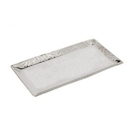 Yair Emanuel Hammered Stainless Steel Rectangular Tray